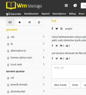 Hangi Webmaster Sözlüğü?