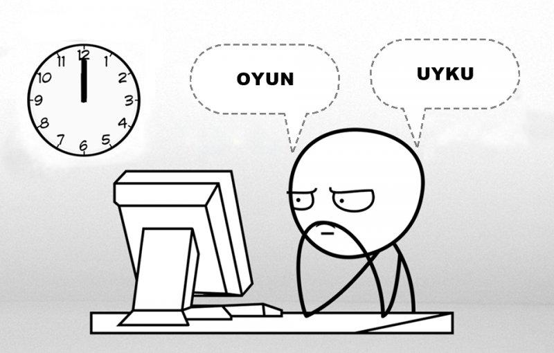 Saat 12'den sonra akıllarda tek bir soru. Oyun mu? Uyku mu? Sen hangi taraftasın?